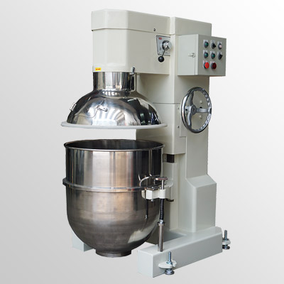 Vertical mixer with safety guard